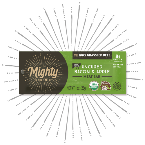 Mighty Bar Uncured Bacon & Apple